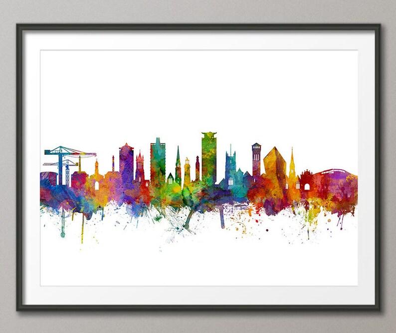 dff1a0e92 Plymouth Skyline Plymouth Devon Cityscape Art Print 3146