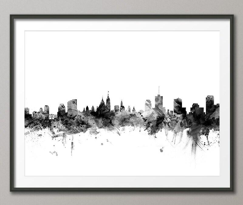 Skyline von Ottawa Ottawa Kanada Stadtbild Kunstdruck 1529