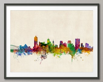 Memphis Skyline, Memphis Tennessee Cityscape Art Print (250)