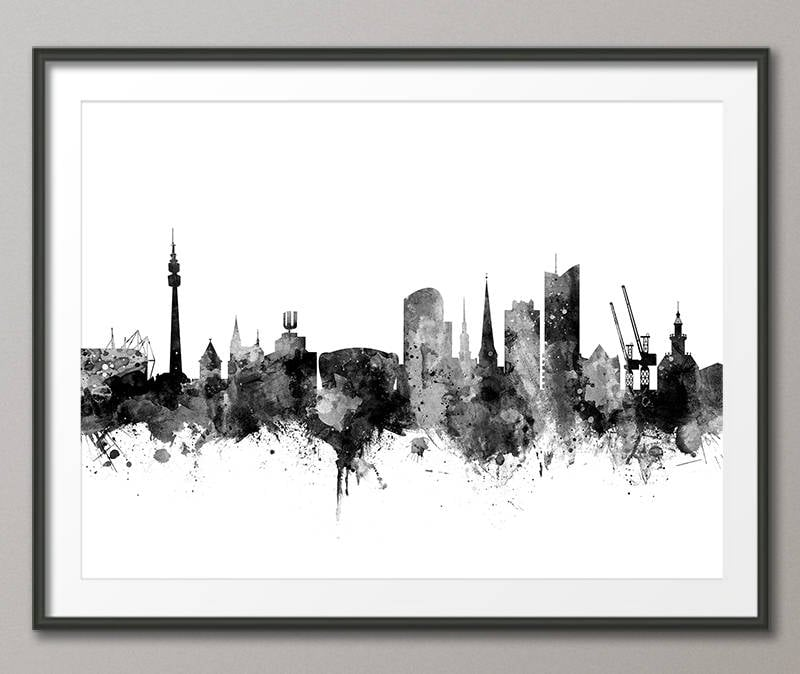 Dortmund Skyline Dortmund Deutschland Stadtbild Kunstdruck | Etsy