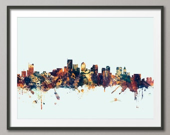 Boston Skyline, Boston Massachusetts  Art Print (1593)