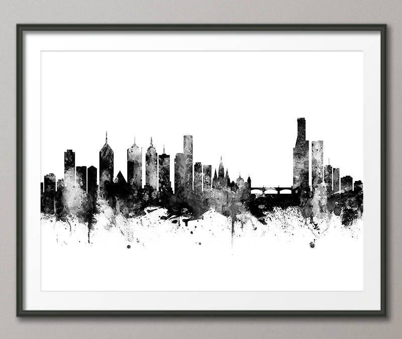 Skyline von Melbourne Melbourne Australien Stadtbild