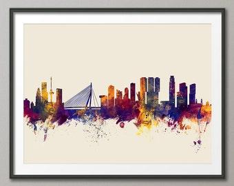 Rotterdam Skyline, Rotterdam The Netherlands Cityscape Holland, Art Print (2137)