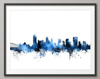 Memphis Skyline, Memphis Tennessee Cityscape  Art Print (1474)