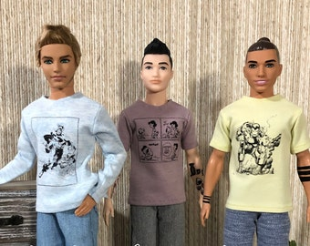 T-shirts for Ken and similar dolls