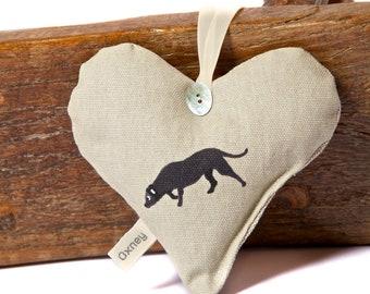 Lavender Heart - Sophie Allport Black Lab fabric