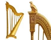 Vintage KARL LAGERFELD Harp Limited Edition Novelty Brooch