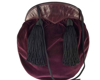 5a5b6c7b334c Vintage YVES SAINT LAURENT Ysl Velvet Tassel Russian Collection Bag