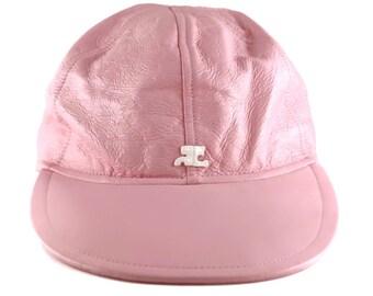 b12a7fecb3c3f Vintage ANDRE COURREGES Pink Vinyl Sports Baseball Cap