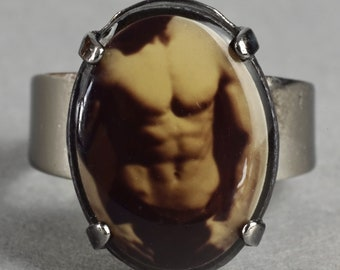 Gaultier enamelled ring