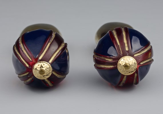 Vintage CLAIRE DEVE Glass Ball Dangling Earrings - image 5
