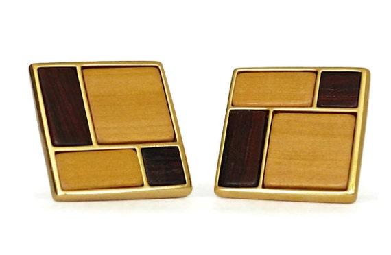 Vintage YVES SAINT LAURENT Mondrian Collection Ear