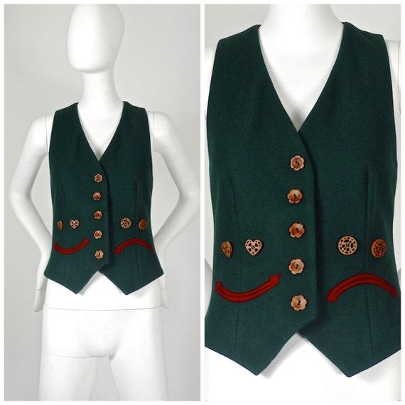Vintage MOSCHINO Happy Sad Novelty Waistcoat Vest
