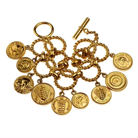 Vintage ICONIC CHANEL Logo Coin Medallion Charm Ho