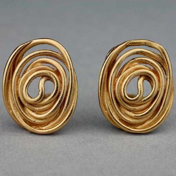 Vintage BALENCIAGA Spiral Earrings