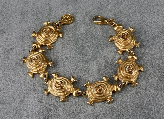 Vintage EDOUARD RAMBAUD Turtle Link Bracelet