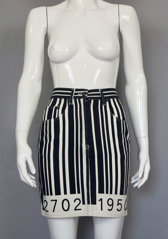 MOSCHINO Vintage MOSCHINO Barcode Novelty Skirt Sk