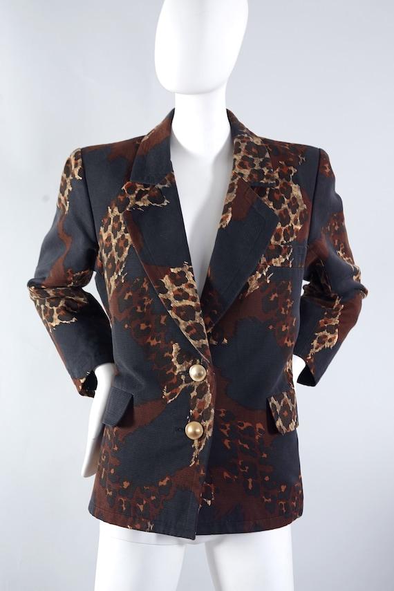 Vintage Iconic Yves Saint Laurent Ysl Rive Gauche Leopard Print Blazer Jacket by Etsy