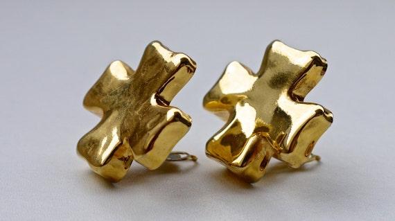 Vintage Christian Lacroix Cross Earrings - image 4