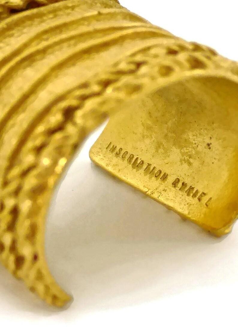 Vintage SONIA RYKIEL Textured Rope Pattern Bracelet Cuff