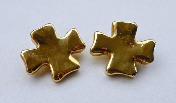 Vintage Christian Lacroix Cross Earrings