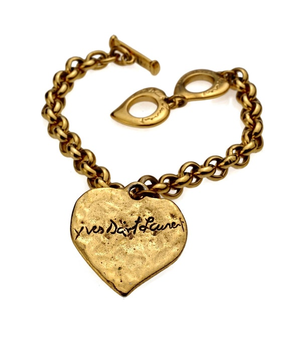 Vintage YVES SAINT LAURENT Ysl Signature Love Hear