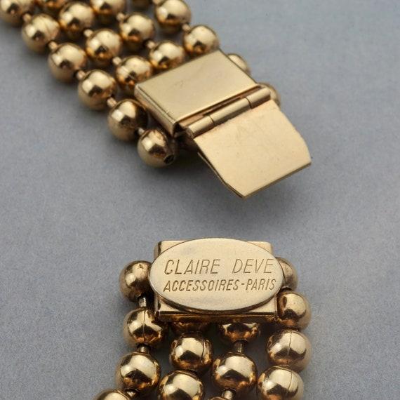 Vintage CLAIRE DEVE Square Charms Multi Layer Bal… - image 10