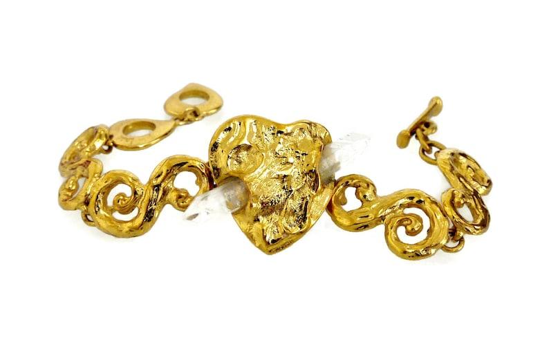 86c843676da Vintage Yves Saint Laurent Quartz Prism Bracelet by Robert | Etsy