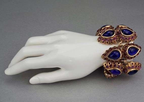 Vintage CLAIRE DEVE Mogul Jewelled Cuff Bracelet - image 6