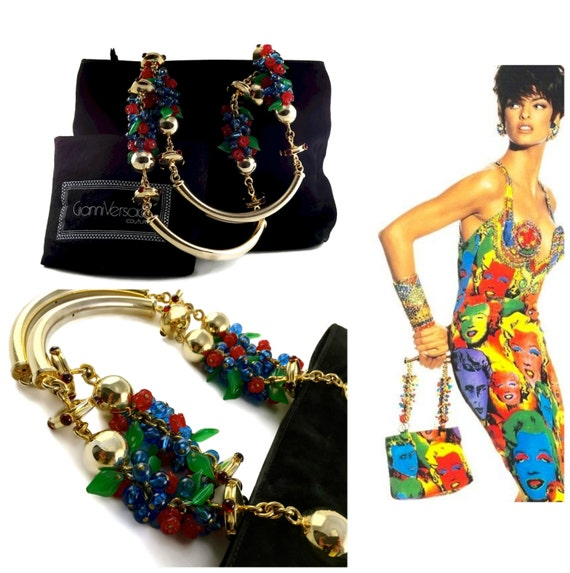 Gianni Versace Multicolor Bead Bracelet