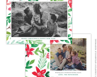 Christmas 5x7 Photo Card - Instant download - e1517