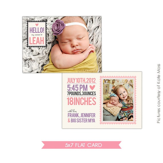 INSTANT DOWNLOAD Birth announcement template Big sister | Etsy