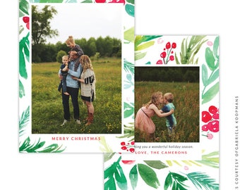 Christmas 5x7 Photo Card - Instant download - e1509