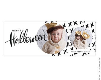Halloween Facebook timeline cover - Photoshop template -  E1549