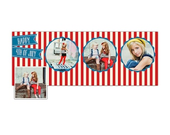 4th of July Facebook  timeline cover - Photoshop Template - E870