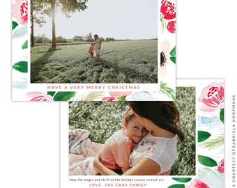 Christmas 5x7 Photo Card - Instant download - e1510