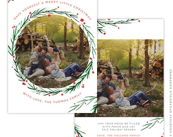 Christmas 5x7 Photo Card - Instant download - e1507