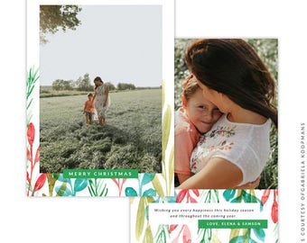 Christmas 5x7 Photo Card - Instant download - e1504