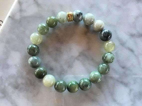 Jade Burma Grade A Stretch Bracelet 10mm Jadeite Jade beads choose Color