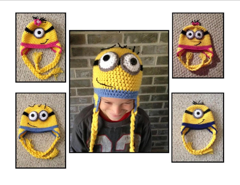 Minion Crochet Hat Pattern Only Etsy