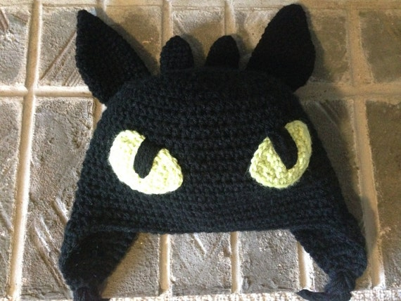 Toothless How To Train Your Dragon Crochet Hat Pattern Etsy