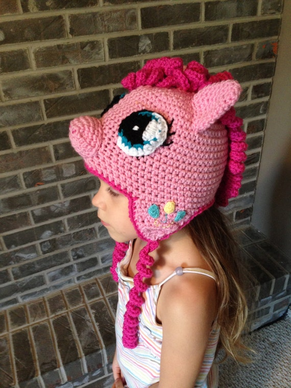 Pinkie Pie My Little Pony crochet hat PATTERN ONLY   Etsy