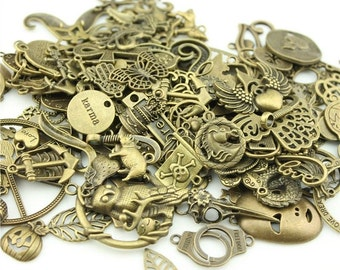 Bulk 100 Mermaid Charms Antique Silver Double Sided 20 x 9 mm US Seller ts1343