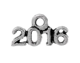 BULK 50  Year 2016 Silver Tone Charms SC2402
