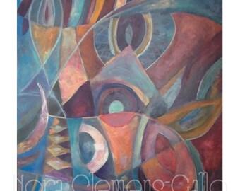 """22x28"""" Original Acrylic Painting """"Un Autorretrato"""""""
