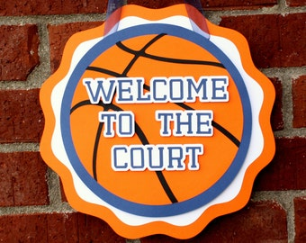 Basketball Party Door Sign   Basketball Birthday Party Decorations    Basketball Hang Sign   Sports Party Decor   Baby Shower Decor