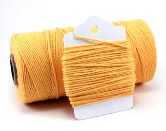 Yellow String - Bright Yellow Twine - Solid Yellow Divine Twine - Lemon Cotton Twine - Gender Neutral Baby Shower Twine - Vivid Bakers Twine