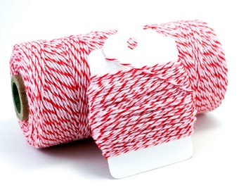Valentine Baker's Twine - Peppermint Divine Twine - Red & Pink Cotton String