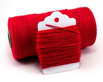 Red Cotton String - Red Baker's Twine - Solid Red String - Red Christmas Twine - Red Solid Divine Twine - Red 4-ply String - Red Gift Wrap