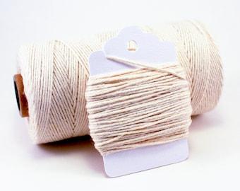 Ivory String - Cream Baker's Twine - Off White String - Natural Twine - Rustic Gift Wrap String - Natural Divine Twine - Cream Color Twine